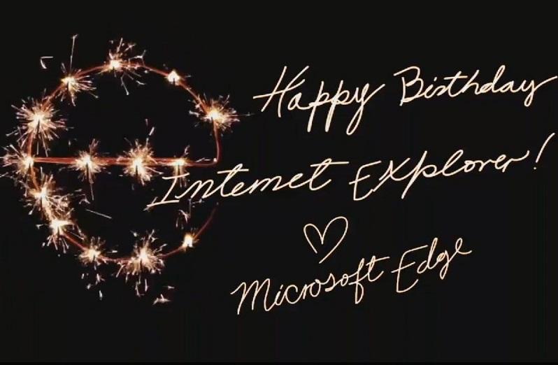 شادباش بیستمین سالگرد اینترنت اکسپلورر توسط مایکروسافت ادج!