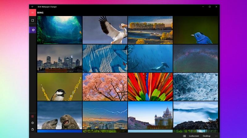 برنامه فوق العاده Brilli Wallpaper Changer برای ویندوز ۱۰ موبایل و PC