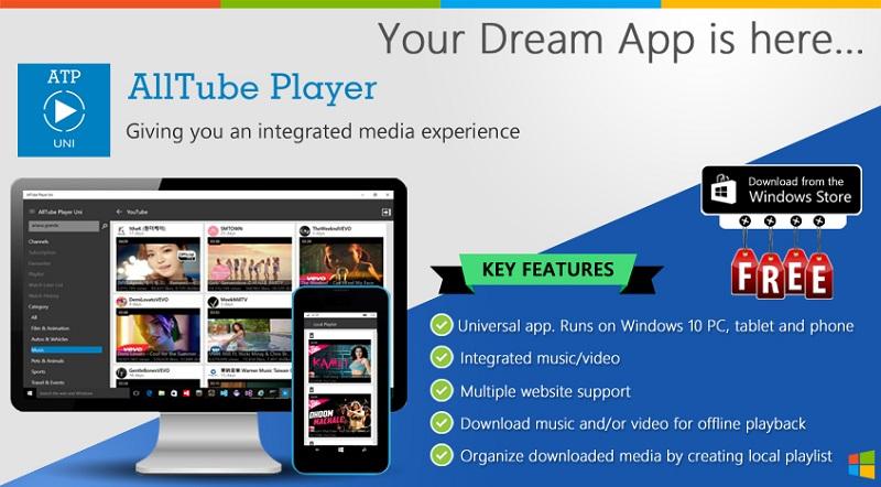 AllTube Player Uni برنامه یونیورسال برای علاقه مندان به دانلود موزیک و ویدیو!