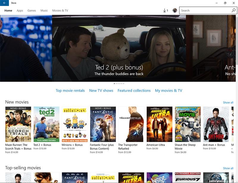 استفاده از ویندوز استور (Windows Store) به عنوان بانک اطلاعات فیلم ها!