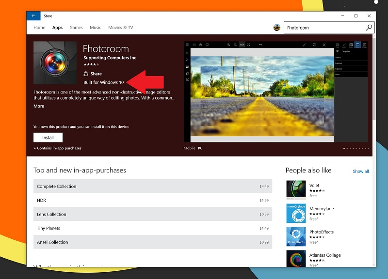 امکان تشخیص برنامه های مخصوص ویندوز ۱۰ در آپدیت جدید Windows Store