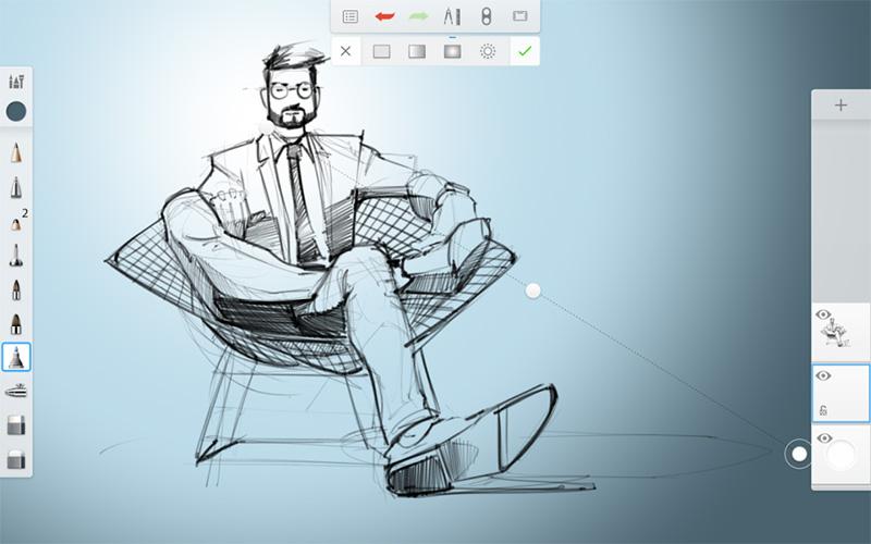 اپلیکیشن جادویی برای طراحان توسط Autodesk با نام SketchBook