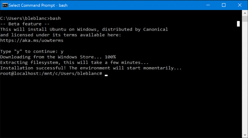 bash-on-windows10