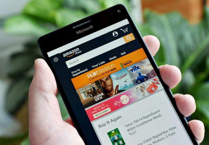 اپلیکیشن یونیورسال Amazon برای ویندوز ۱۰ موبایل و PC