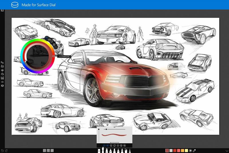 نسخه جدید Sketchable با پشتیبانی بهتر از چپ دست ها و Surface Dial