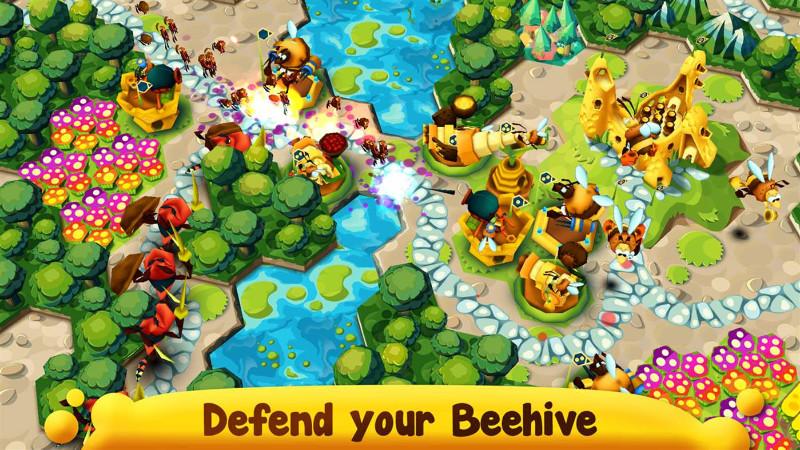 بازی استراتژی و جذاب BeeFense برای ویندوز ۱۰ موبایل و کامپیوتر