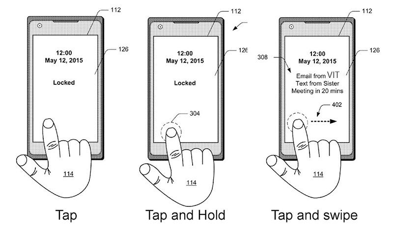 ثبت اختراع مایکروسافت برای گوشی ای که با تاچ بروی کل صفحه باز می شود!