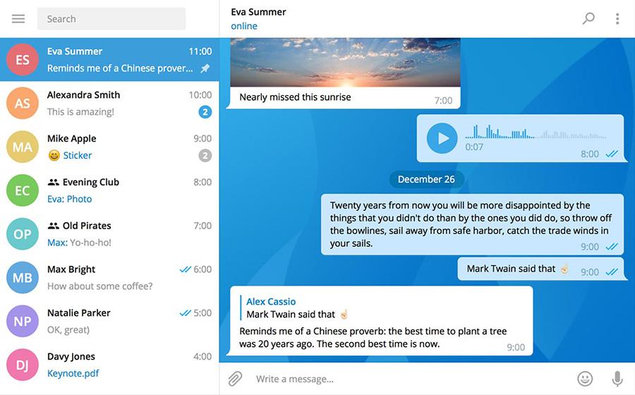 آموزش دانلود تم های زیبا برای تلگرام کامپیوتر نسخه جدید