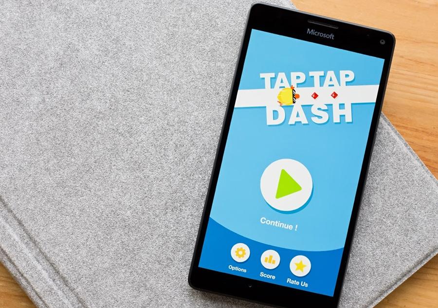 بازی جذاب و یونیورسال Tap Tap Dash (UWP) را دانلود کنید