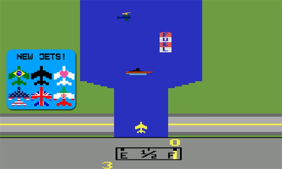 بازی هواپیمای آتاری با نام River Raid 2600 برای گوشی شما!