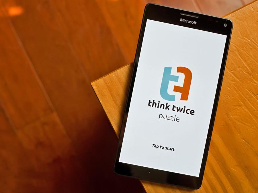 بازی جذاب Think Twice برای ویندوز ۱۰ موبایل را از دست ندهید.