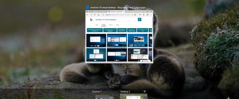 کلید میانبر جابجایی بین صفحه های دسکتاپ مجازی در ویندوز ۱۰ چیست؟