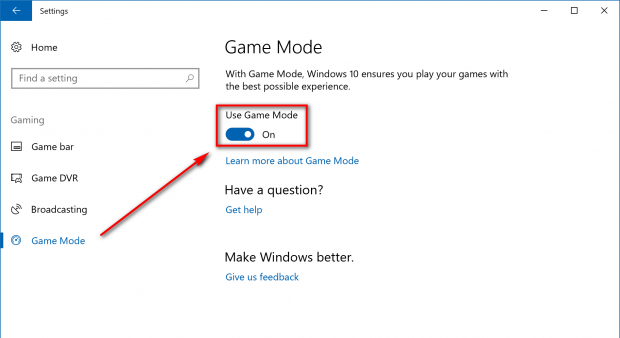Use-game-mode
