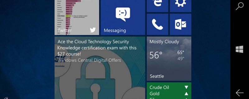 CShell و یا رابط کاربری یکپارچه و یونیورسال ویندوز ۱۰ برای موبایل رونمایی شد.
