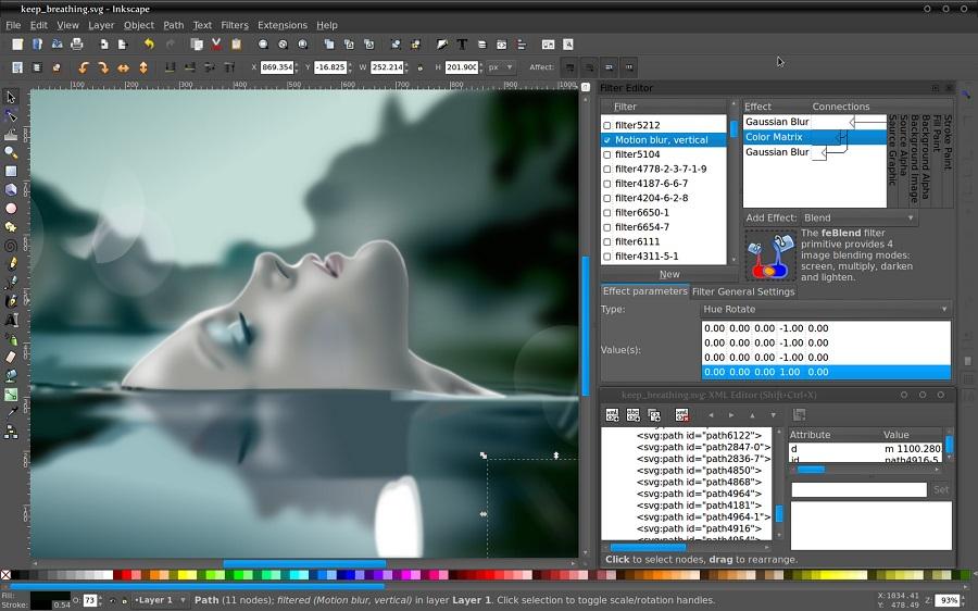 اپلیکیشن قدرتمند Inkscape را برای ایجاد و ویرایش فایل های برداری و گرافیکی