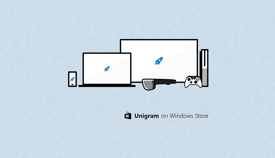 نسخه جدید یونیگرام (کلاینت رسمی تلگرام) برای ویندوز ۱۰ موبایل، PC و XBOX