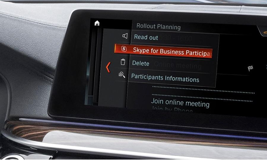 با همکاری BMW و Microsoft اسکایپ برای بیزینس به BMW سری ۵ آمد