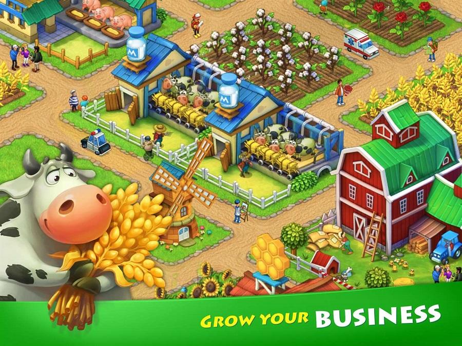 بازی فوق العاده Township را برای موبایل، تبلت و کامپیوتر خود دانلود کنید!