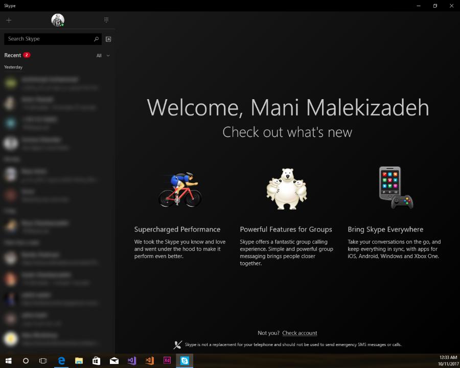 نسخه جدید اپلیکیشن یونیورسال محبوب Skype با نسخه ۱۲٫۴٫۷۱۶٫۰ برای ویندوز ۱۰