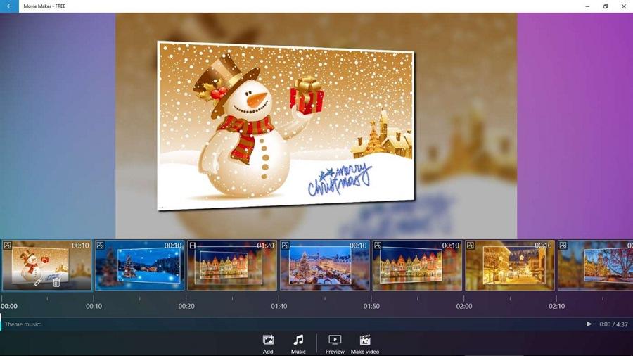 با اپلیکیشن رایگان Movie Maker – FREE ویدیو های خود را تولید و ویرایش کنید.