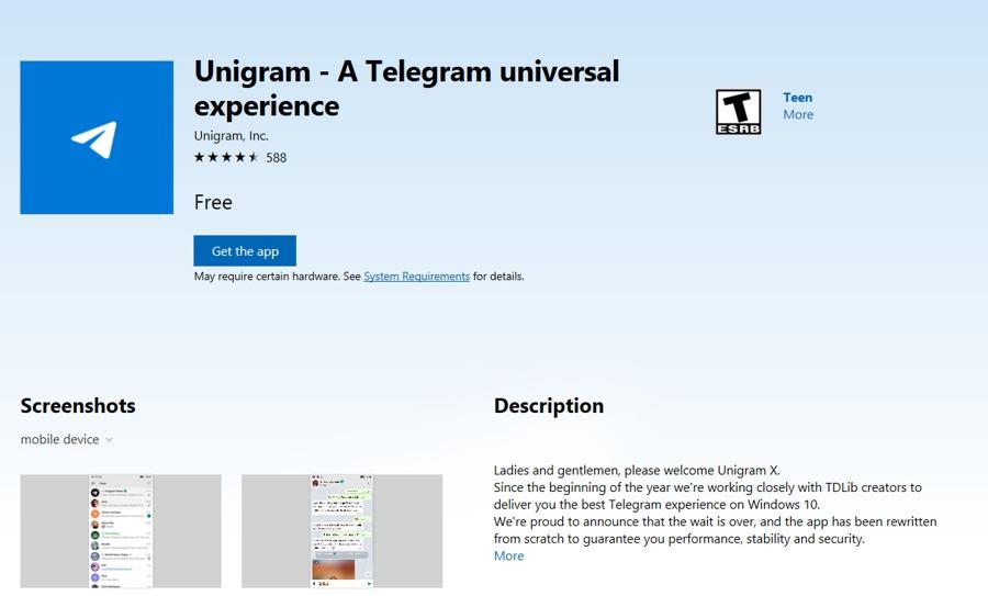دانلود یونیگرام ایکس (Unigram X) با نسخه جدید و رفع مشکل زبان فارسی