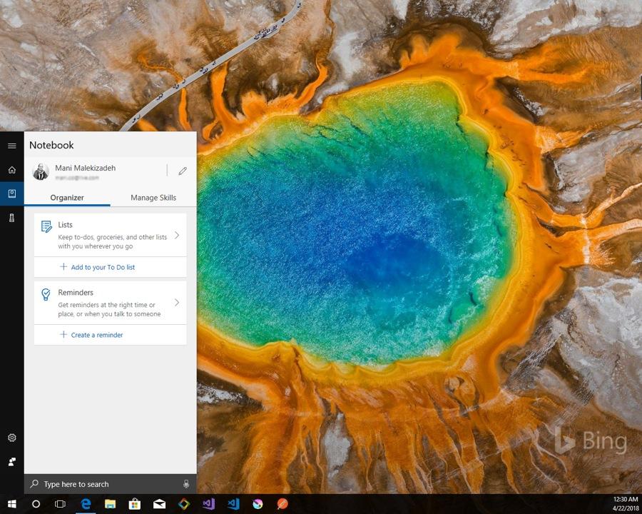 آپدیت کرتانا و اضافه شدن بخش Organizer به مدیریت Notebook آن در ویندوز ۱۰