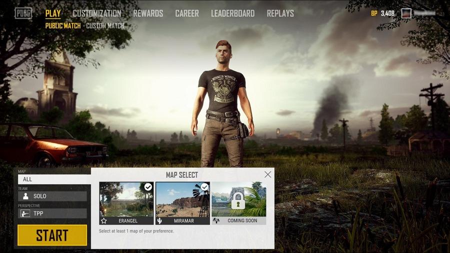 در آپدیت بعدی بازی PUBG برای ویندوز ۱۰ می توانید نقشه بازی را انتخاب کنید!