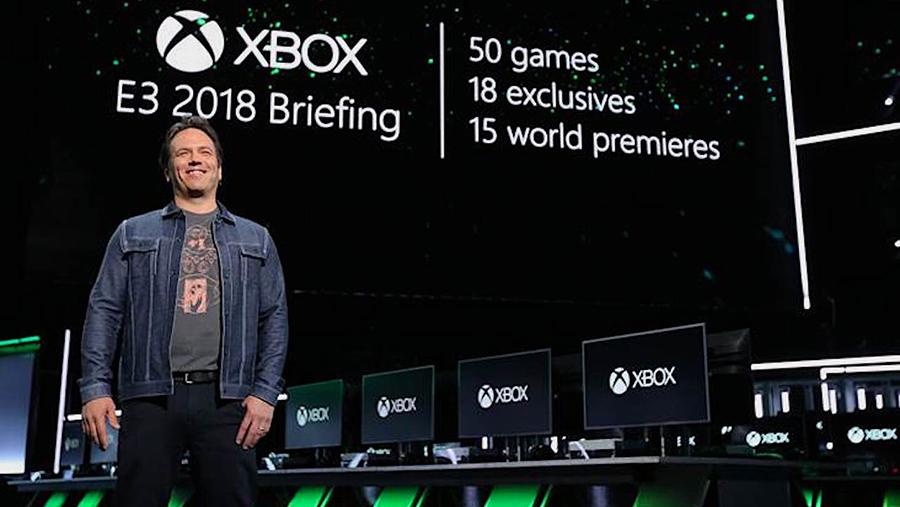 کولاک مایکروسافت و فیل اسپنسر در کنفرانس E3-2018 با رونمایی از ۵۰ بازی جدید