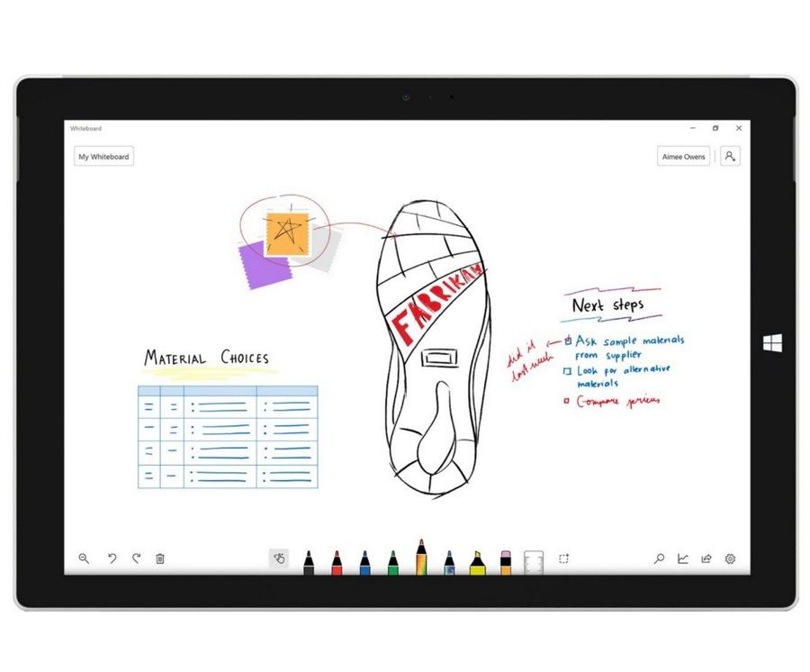 نسخه رسمی اپلیکیشن Microsoft Whiteboard به صورت رایگان منتشر شد.