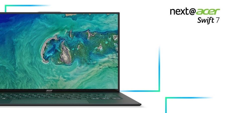 Acer Swift 7 نازک ترین لپ تاپ جهان با ضریب تصویر به بدنه ۹۲ درصد!