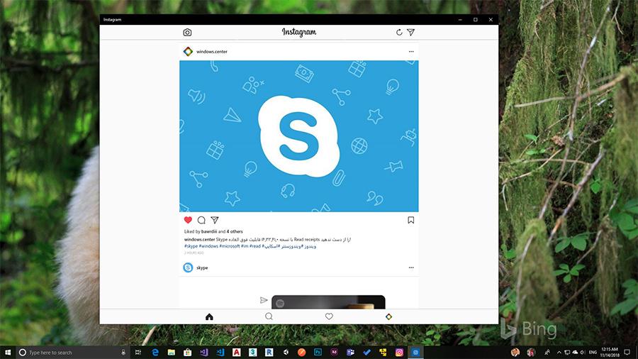 صفحه ی رسمی ویندوز سنتر در اینستاگرام (WindowsCenter on Instagram)