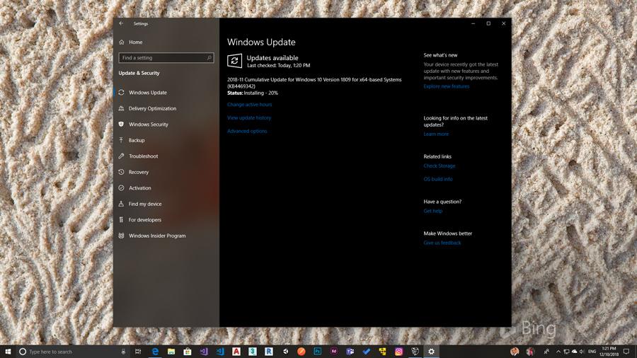 آپدیت Cumulative ویندوز ۱۰ با نام آپدیت ۱۱-۲۰۱۸ برای تمامی کاربران منتشر شد.