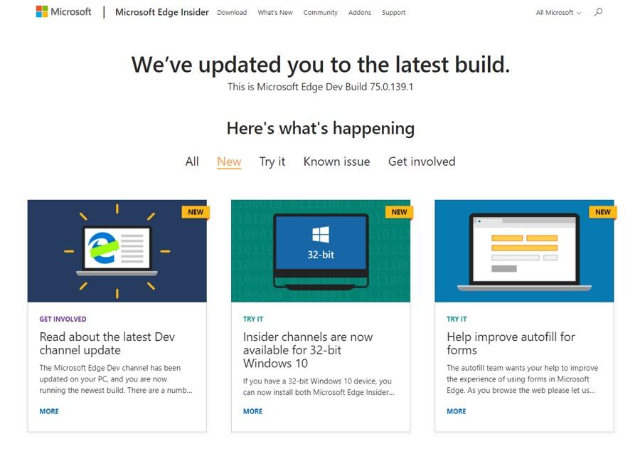 انتشار نسخه جدید Dev مرورگر ادج (Edge) به صورت مستقل برای ویندوز ۱۰