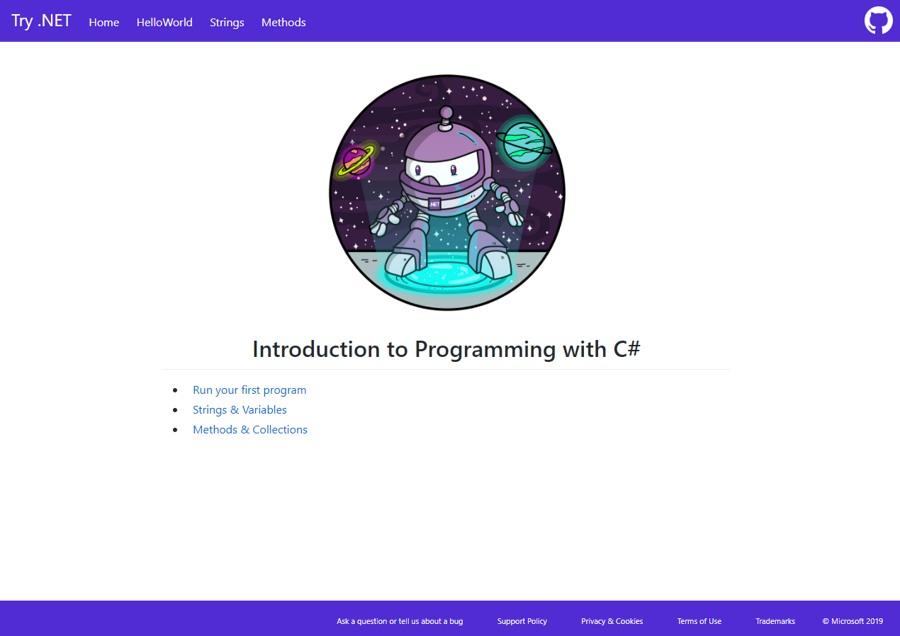 آموزش برنامه نویسی #C بدون نیاز به نصب هیچ برنامه ای، به سادگی در Edge