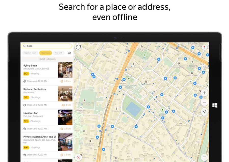 با اپلیکیشن Yandex.Maps نقشه ایران به صورت آفلاین، در ویندوز ۱۰ موبایل و تبلت!