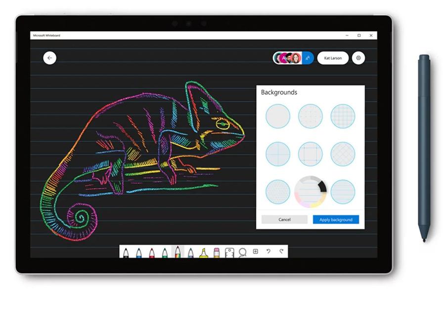 نسخه جدید Microsoft Whiteboard با رابط کاربری و قابلیت های جدید