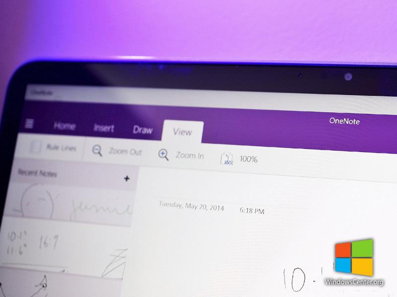 OneNote جدید بروی ویندوز ۱۰ با پشتیبانی کامل از رابط کاربری لمسی (Touch)