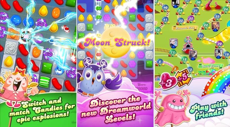 هر سه نسخه بازی محبوب Candy Crush با مراحل جدید بروزرسانی شدند.