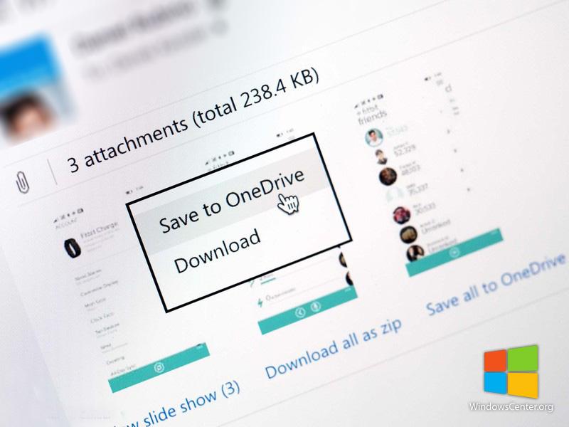 ارسال مستقیم فایل های ضمیمه شده در Outlook به OneDrive