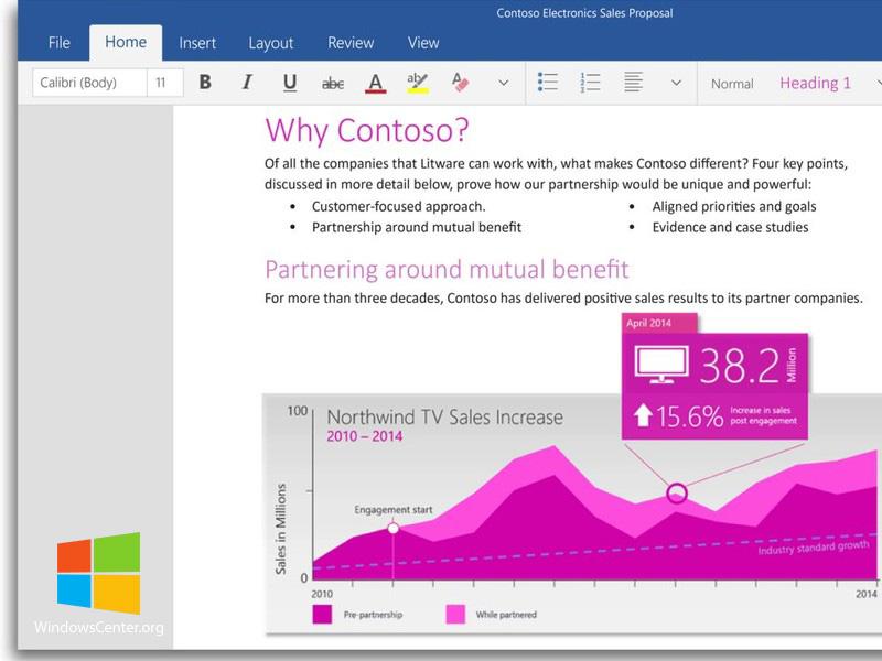 آفیس لمسی (Touch-Based Office) شامل ورد، اکسل و پاورپوینت برای ویندوز ۱۰ منتشر شد!
