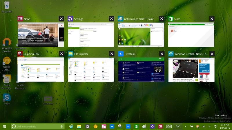 Windows 10 technical preview build 10041 منتشر شد.