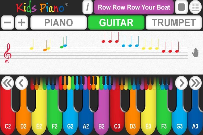 Kids Piano برنامه آموزش پیانو به کودکان به روش گرافیکی و رنگی