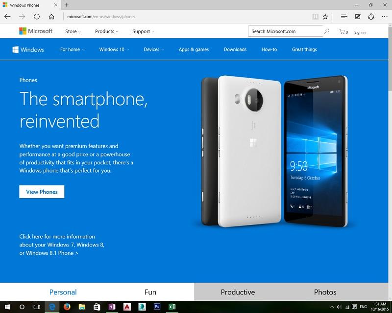 دامنه جدید برای ویندوز ۱۰ موبایل به جای windowsphone.com