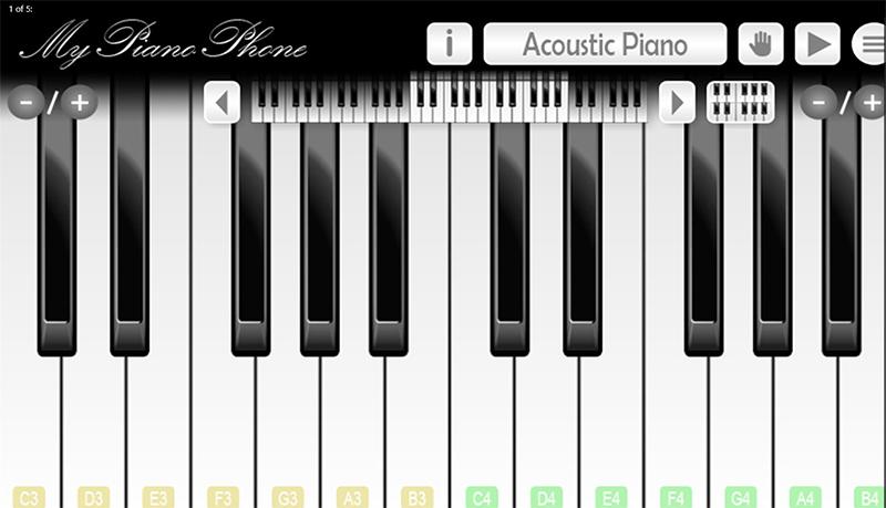 برنامه محبوب یادگیری پیانو و درام My Piano Phone