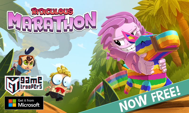دانلود بازی Ridiculous Marathon از گیم تروپرز برای ویندوز ۱۰ موبایل