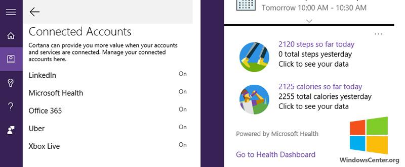به زودی امکان اتصال Microsoft Health به Cortana