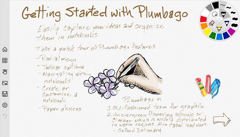 چنانچه سرفیس با Plumbago دارید دیگر نیازی به کاغذ خودکار ندارید!