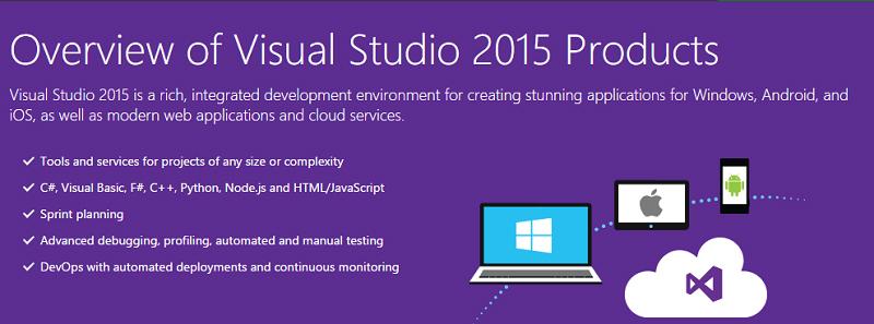 دانلود ویژوال استودیو ۲۰۱۵ آپدیت دوم (Visual Studio 2015 – Update 2)