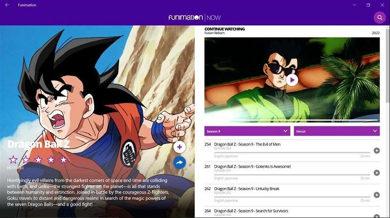 دنیایی از انیمیشن در اپلیکیشن یونیورسال FunimationNow