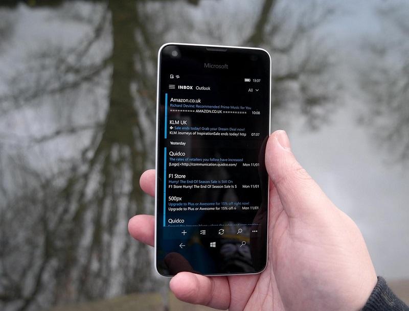 آپدیت جدید برای Outlook Mail ویندوز موبایل ۱۰ منتشر شد.